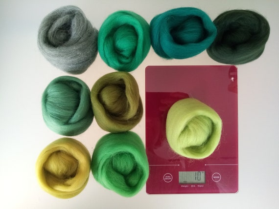 Easter Egg* Wool Tops for Felting White Pink Lilac Green Yellow Green set of 30g
