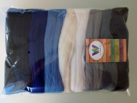 October* Pure Merino Wool Roving Tops for felting 6 colours set 30 g
