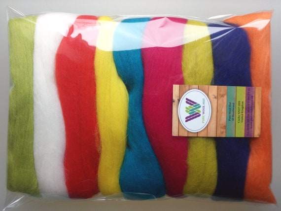 8 Different Shade Packs 48 Colours! Heidifeathers® Merino Wool Multi Pack