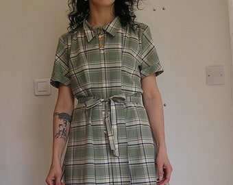 38 checked dress