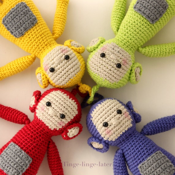 Screenies Crochet Pattern Amigurumi Inspired By Teletubbies Etsy