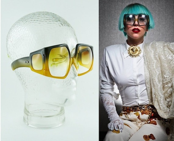 CHRISTIAN DIOR * Vintage Rare Space Age Oversized… - image 2