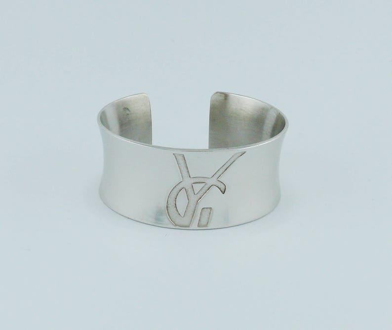 6d961eb63db YVES SAINT LAURENT Vintage Sterling Silver Cuff Bracelet | Etsy