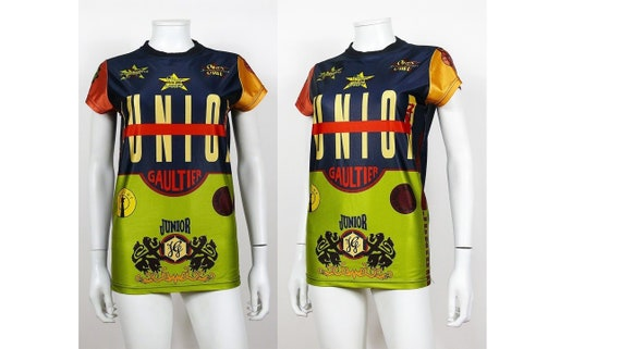 JEAN PAUL GAULTIER Vintage Junior Iconic Color Block T-Shirt  ce3fff11b
