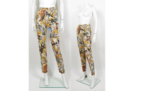 MOSCHINO * Vintage 90s Cave Paintings Trousers