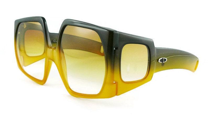 4e39e2defea6 CHRISTIAN DIOR Vintage Rare Space Age Oversized Sunglasses