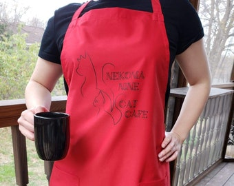 Volleyball Cat Aprons (Cafe AU)