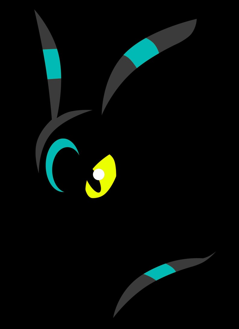 SHINY Umbreon Shadow T-Shirt image 0