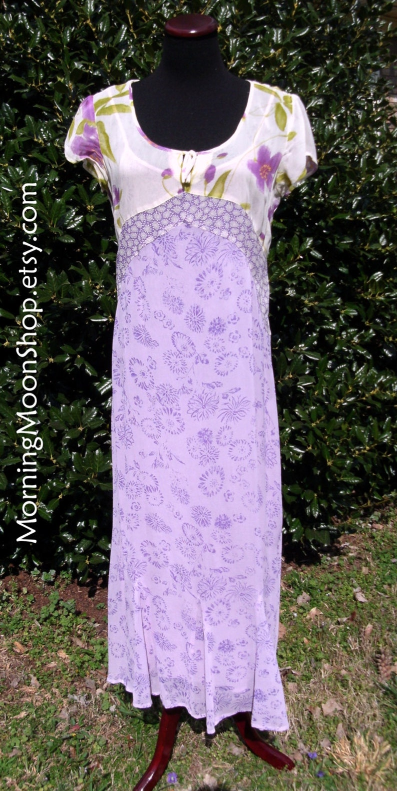327ec63a47f Gauze Maxi Dress VINTAGE 70s Hippie Boho Festival Dress