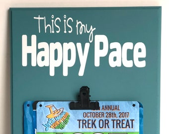 This is My Happy Pace, Race Bib Display, Ready to Ship