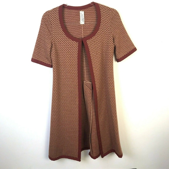 Vintage Bess Art Tunic Cardigan Made in France