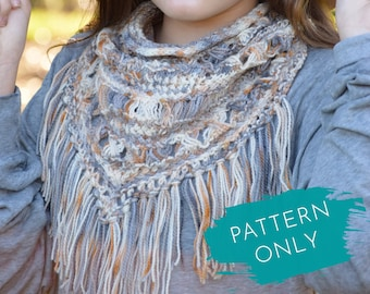 Bandana Cowl Knitting PATTERN - Country Girl pattern by Knit a Bit of Whimsy - One Skein Wonder