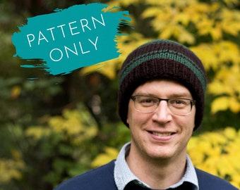 Men's Hat KNITTING PATTERN - Infant to Adult Sizes - Double knitting - Knit men's hat - Men's knit hat patterns - Simple hat pattern men