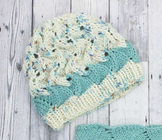 Slouchy Hat Pattern Knit Quick Knitting Pattern Simple Etsy