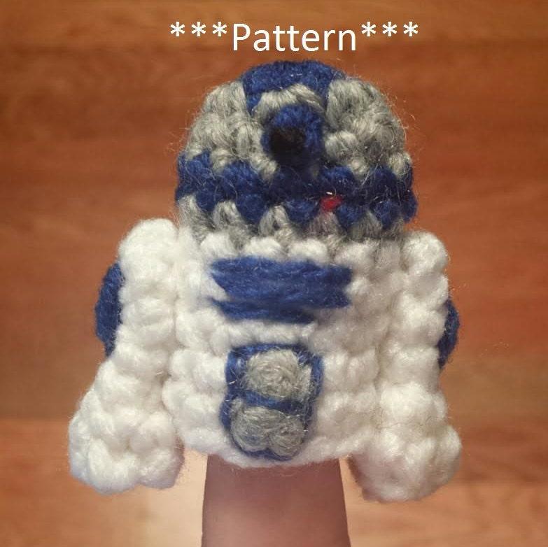 R2d2 Crochet Finger Puppet Pattern Star Wars Finger Puppet Etsy