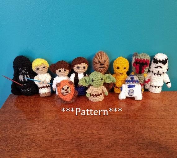 Star Wars Häkeln Finger Marionette Muster Set 11 Star Wars Etsy
