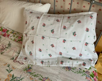 Pillowcase Flannelette Cot Toddler Size Pink Bunnies 100/% Cotton Snuggly Warm