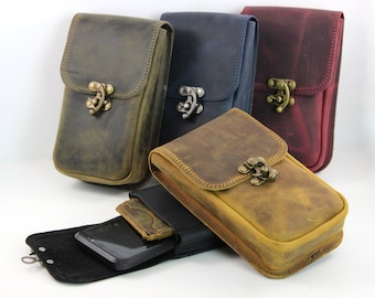Long Adventurer's Leather Phone Pouch