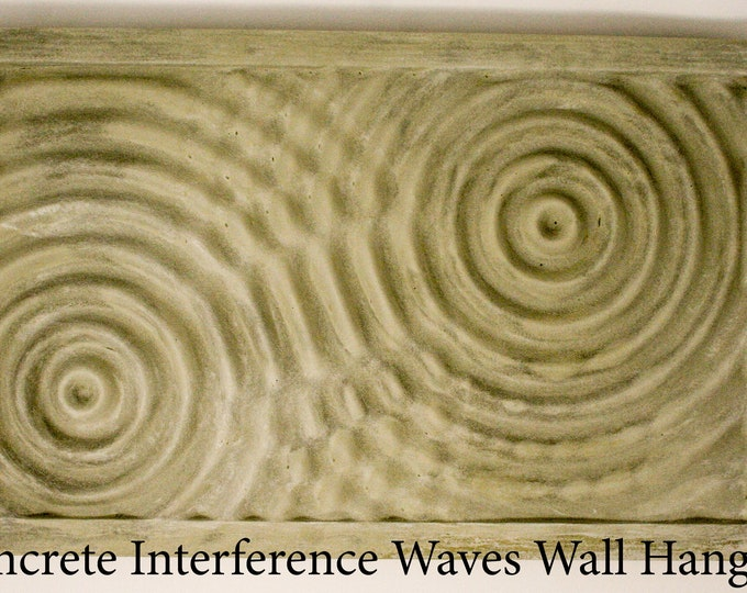 Concrete Interference Waves Wall Mount Hanging / Sign- perfect for your listening room