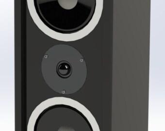 Speaker Loudspeaker Bookshelf Enclosure Plans Ellipse E104