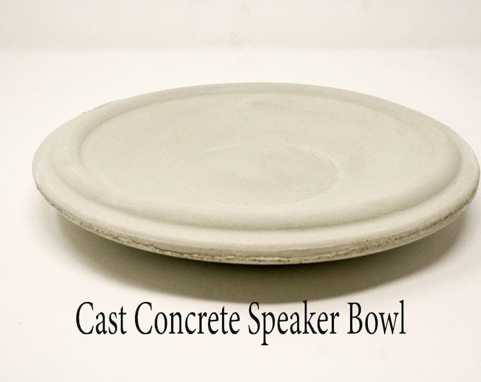 Concrete Woofer Bowl / Dish Casting