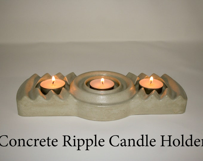 Concrete Ripple / Wave Candle Holder - perfect for your listening room