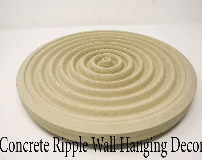Concrete Ripple Wall Mound / Sign- perfect for your listening room