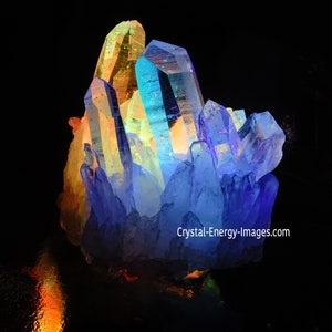 Mineral Print Nature Print Rainbow Crystal Arkansas Quartz Crystal Print Spiritual Surreal Art Q2 Metaphysical Tool Healing Crystal