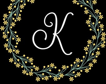 PRINTABLE Mr & Mrs LAST INITIAL with Last Name/Wedding Date Sign - 2 Colors! - Custom Printable, Various Sizes