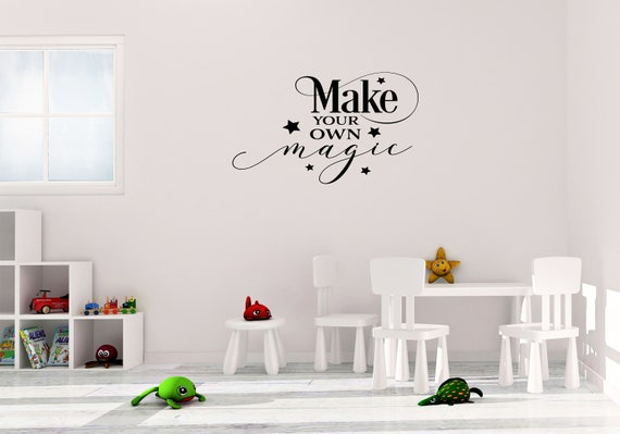 make your own magic wall art vinyl decal wall sticker   etsy
