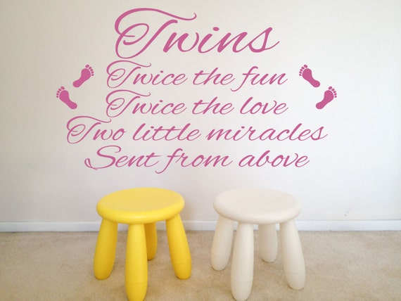 twins quote nursery twice the fun twice the love two etsy