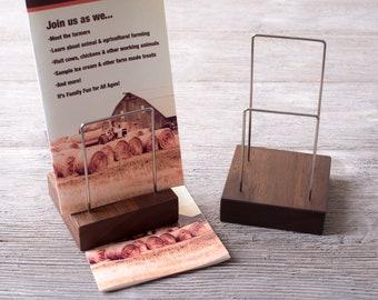 Wood Brochure Holder, Pamphlet Rack, Literature Holder, Brochure Display, The Guide