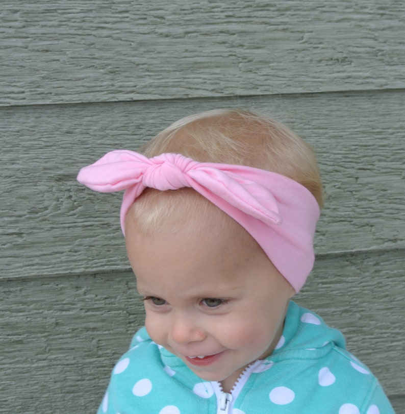 Solid Knotted Headband for babies Perfect knotted headwrap for everyday wear and special occasions. 28 colors toddler or adults