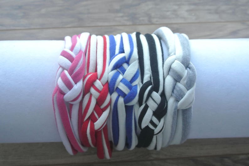Stripe Sailor Knot Headband for babies or toddler Perfect topknot headband or knotted headwrap for everyday wear and special occasions.
