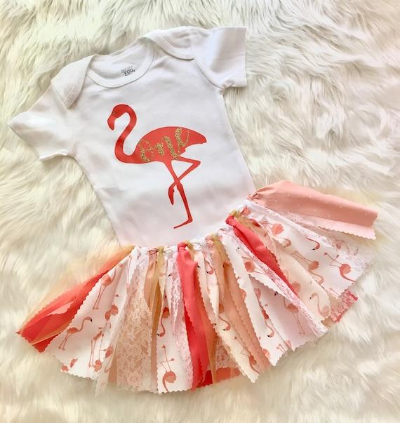 pink flamingo tutu First Birthday Pink Flamingo first birthday girl  tutu outfit Flamingo Birthday shirt pink 1st birthday outfit