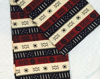 Authentic African Fabric/africanClothing/Fabric/africentruc  Print Fabric Brown/ Sold by Yard