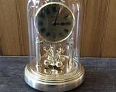 Vintage Seiko glass domed anniversary clock Japan clock