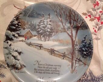 Winterscene Series  Robert Laessig genuine porcelain Christmas plate