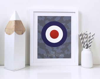 Spitfire prints – Gunmetal blue colours