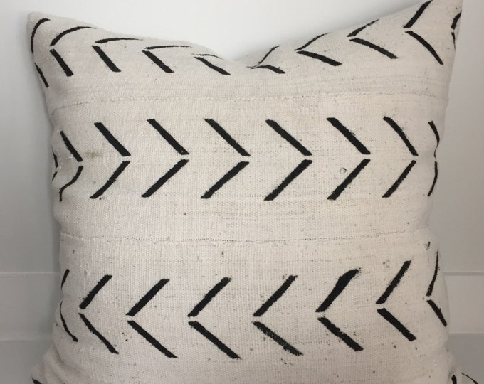 Mudcloth Pillow, African Mudcloth Pillow, Mudcloth, Mud Cloth Pillow, Boho Pillow, Vintage Boho Pillow, Authentic Mudcloth, Pillow Covers