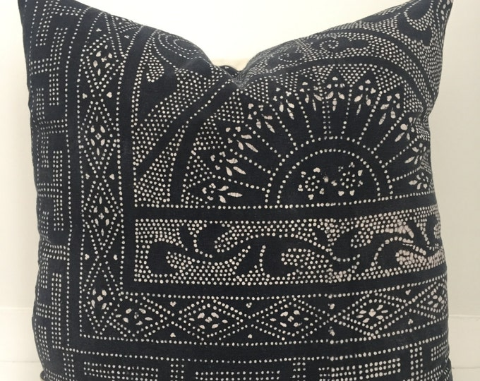 Boho Pillow, Batik Pillow, Chinese, Vintage, Pillow Covers, Throw Pillow, Decorative Pillows, Bohemian, Boho Chic