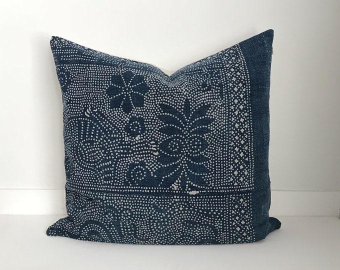 Boho Pillow, Batik Pillow, Chinese, Vintage, Pillow Covers, Throw Pillow, Decorative Pillows, Bohemian, Boho Chic
