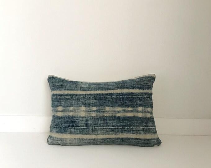 Africa Boho Pillow, indigo, Cover, Ethnic, Vintage, Blue, Lumbar