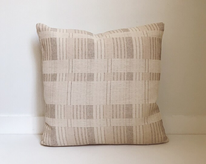 Boho, Pillow, Hmong, Vintage, Pillow Covers, Throw Pillow, Decorative Pillows,  Bohemian, Neutral, Home Decor