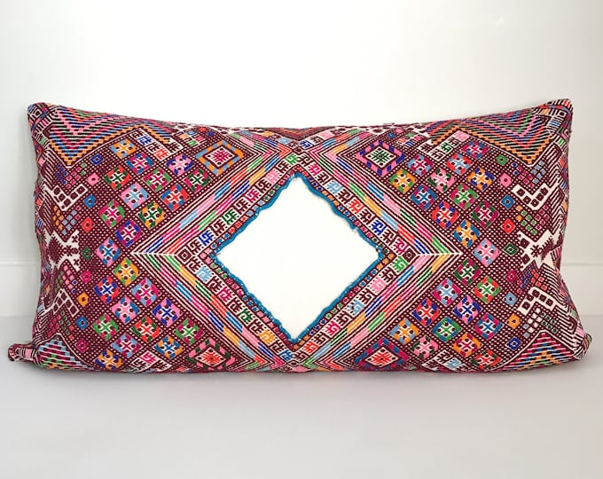 Boho Pillow Cover, Vintage, Huipil, Guatemalan, Handloomed, Decorative Pillow, Pillow Covers, Bohemian, Home Decor