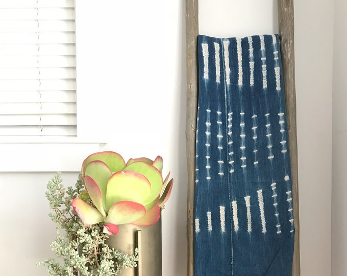 Throw Blanket, Baby Blanket, Indigo Blanket, Mudcloth, Mud Cloth, Vintage, One of A Kind Blanket, Boho Blanket, Sherpa Blanket