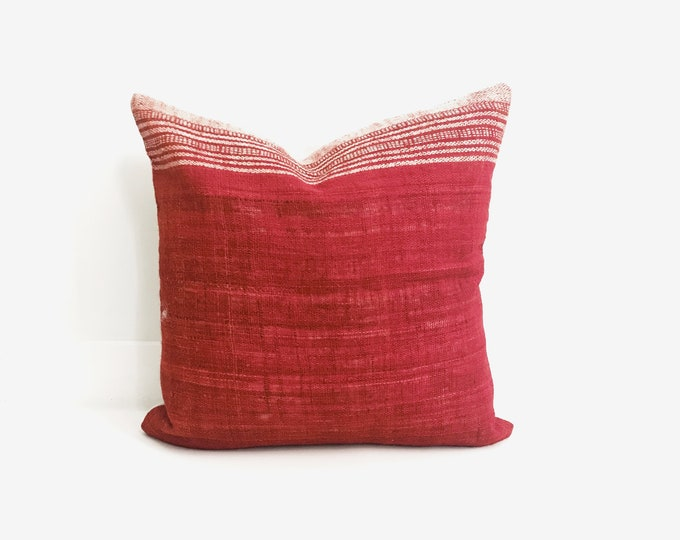 Boho Pillow, Wool Pillow, Red Pillow, India, Decorative Pillow, Pillow Covers, Boho Chic, Home Decor