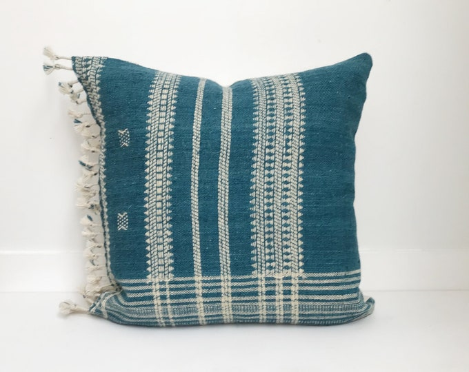 Boho Pillow, Wool Pillow, Neutral Pillow, Teal, India, Decorative Pillow, Pillow Covers, Striped Pillow, Boho Chic, Home Decor