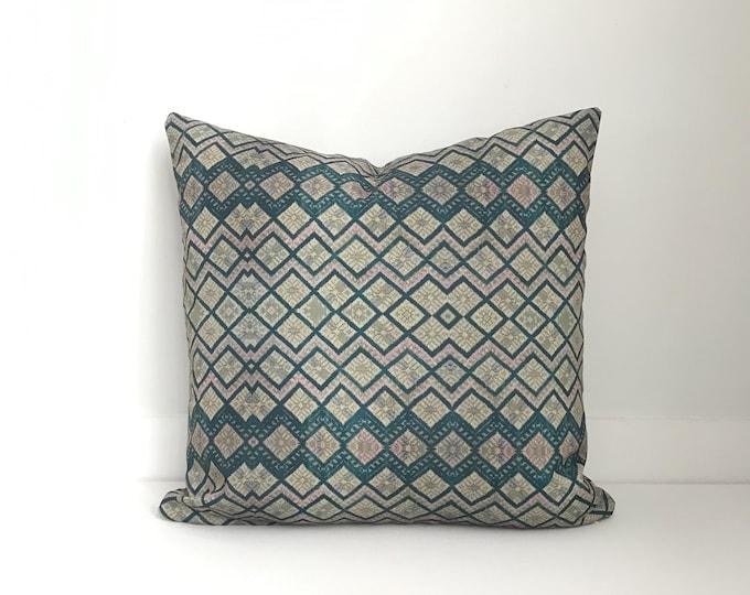Outdoor Pillows, Pillow cover, Outdoor Boho Pillow, Outdoor Pillow Cushion, Bohemian, Boho, Outdoor Chinese Embroidered Pillow