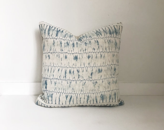 Boho, Pillow, Hmong, Vintage, Pillow Covers, Throw Pillow, Decorative Pillows, Bohemian, Batik, Blue, Hemp, Home Decor, Tie Dye